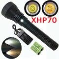 5000LM XHP70 светодиодный фонарик для подводного плавания Мощный водонепроницаемый подводный фонарь для подводной вспышки