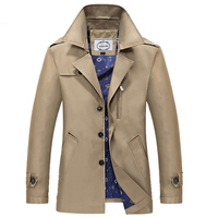 Fall Men S New Trench Coat In The Long Section Of The Long Sleeved Trench Coat
