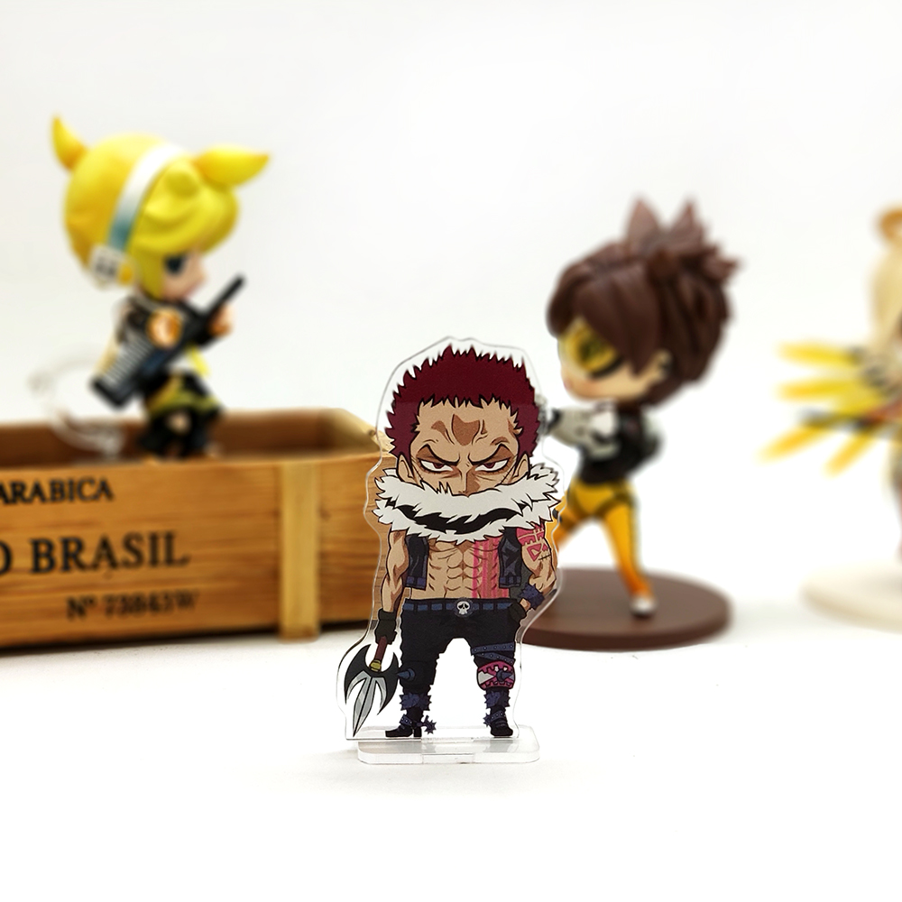 One Piece Luffy Vs Katakuri Charlotte acrylic stand figure model toy anime