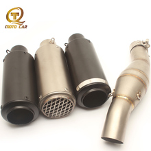 Escape Moto 51MM Muffler Exhaust Motorcycle Stainless Steel Link Pipe Connector Clamp Spring for Benelli 300 Full System