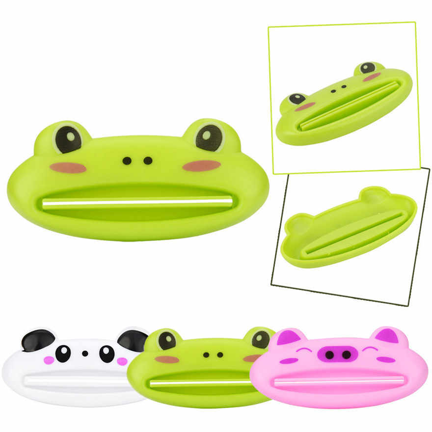 HOT Home  Bathroom Tube Rolling Holder Squeezer Easy Lovely  Cartoon Toothpaste Dispenser #1105 A1#