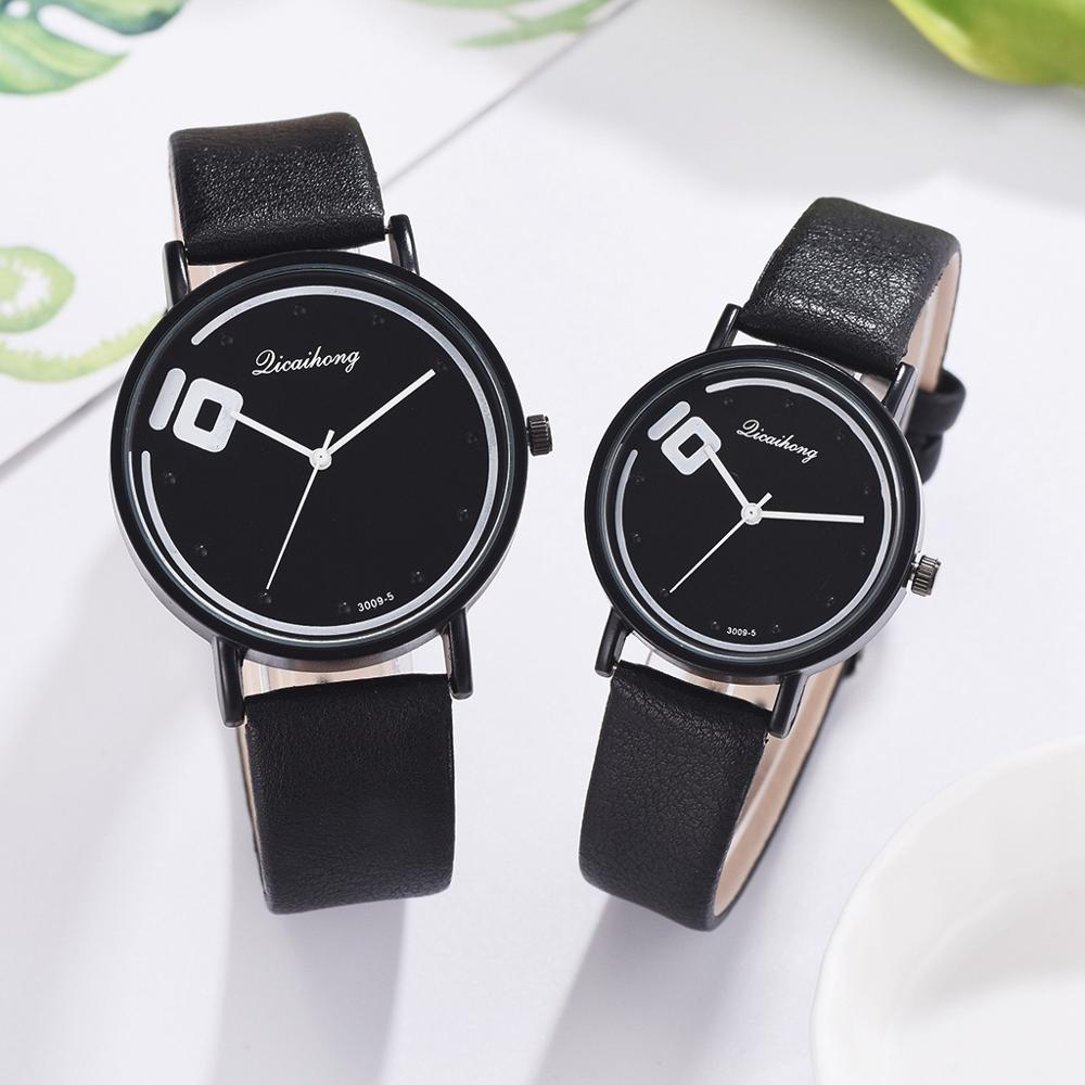 Couple Watches Set 2pcs Fashion Leather Belt Quartz Analog Wrist Watch Casual Women Dress Quartz Clock Reloj Mujer Drop Shipping