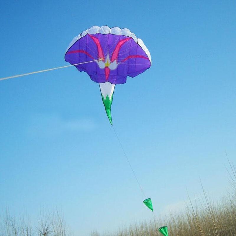 Высокое качество, мягкий ktes Morning Glory kite, красивый воздушный змей,, детская любовь с ручкой и линией, игрушки для улицы