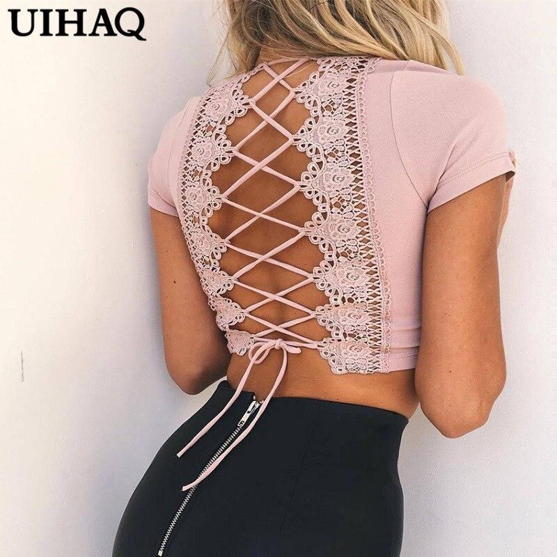 Elegant V-neck Backless Sexy Crop Top Tank Top Shirt Cropped Feminino Women Blusa Fashion Short Women Tops WG407