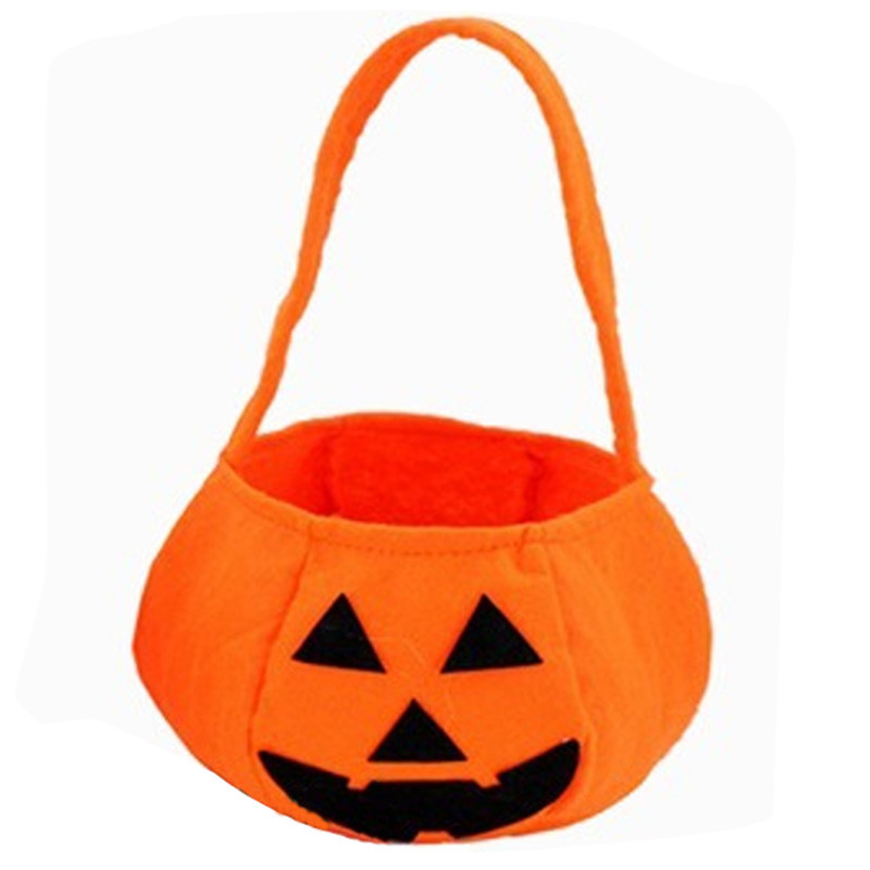 1 pc new children baby kids halloween pumpkin bag kids handbag bucket child funny candy gift - Halloween Handbag