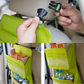 Car Storage Bag Seat Back Hanging Bags Organizer Multifunctional Travel Pocket adjustable buckle system for Car maps/ magazines