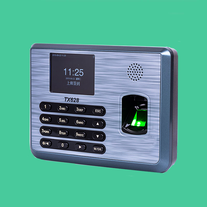 Biometric Fingerprint ID Card Reader Time Attendance Clock Employee Recorder ZK Tx628 Free Shipping
