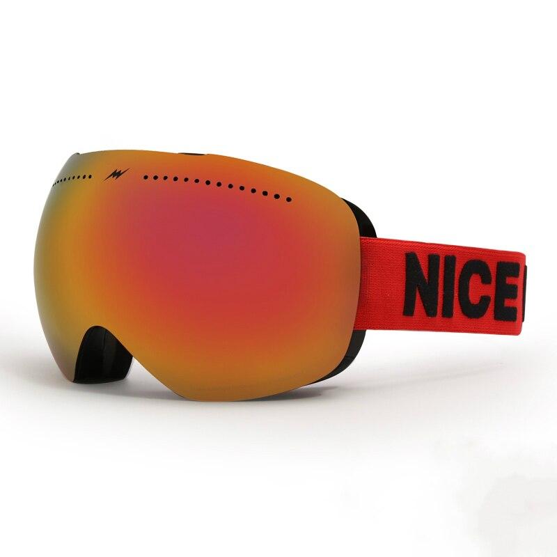 Брендовые лыжные очки, двухслойные, UV400, анти-туман, большая Лыжная маска, очки для мужчин и женщин, зимние, лыжные и сноубордические очки