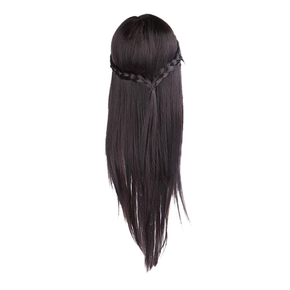 Real Long Hair 550mm Model Hairdressing Practice Training Head Mannequin Manikin Hair Styling Mannequin Doll Salon