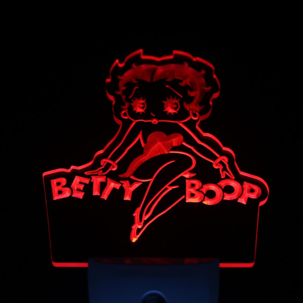 ws0278 Betty Boop Day/ Night Sensor Led Night Light Sign