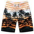 Hawaiian Beach Shorts Hombres de Rayas Pantalones Cortos Hombre Malla Forrada Boardshorts Troncos del traje de Baño de Secado rápido Tabla de Surf