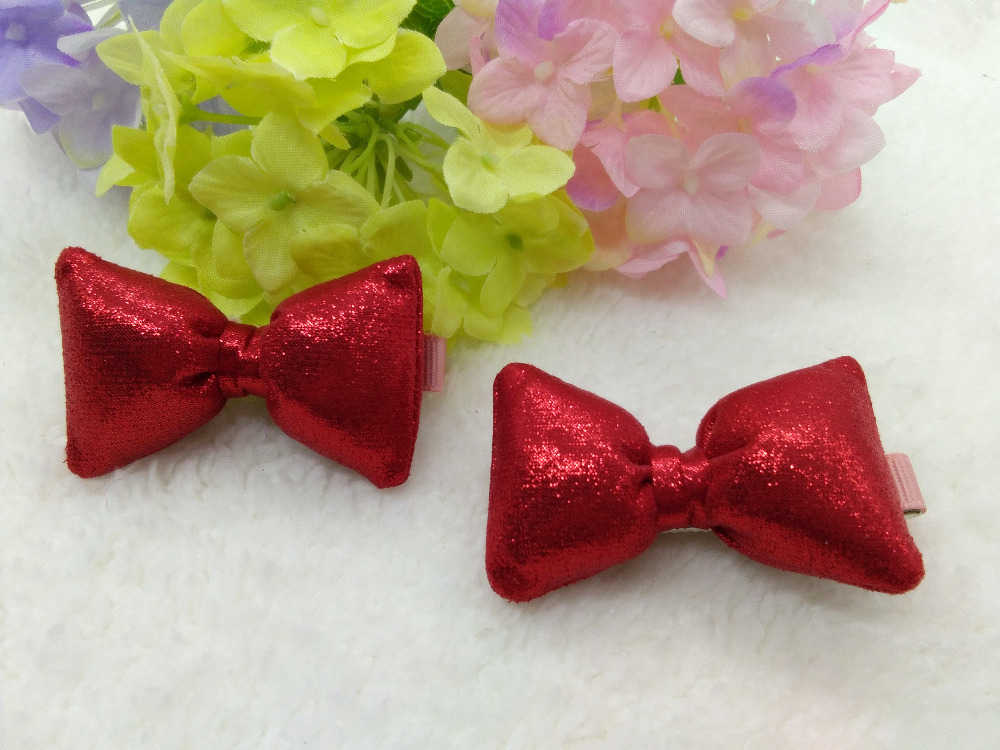 20pcs / 3C Pink Gold Red FashionCute Glitter Hair Bow Girls Hairpins - Accesorios para la ropa - foto 5
