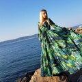 AECU Vestido Blumen Druck Boho Maxi Kleid Sexy Dame Bohemian Sommer Lange Kleid Frauen Strand Kleider Weibliche roben strang jurkjes