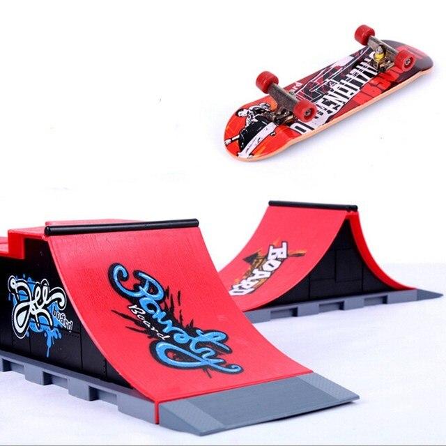 71a0d3af82c6 A-F DIY 1PC Site Skate Park Ramp Parts For Fingerboard Finger Board  Ultimate Parks Boys Games Adult Novelty Items Children Toys