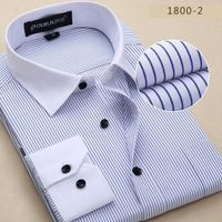 Men Dress Shirts 2017 New Spring Summer Long Sleeve Formal Business Casual Striped Brand Men Shirt