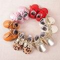Couro genuíno Lace-up Do Bebê Primeiros Caminhantes Bebê recém-nascido meninos meninas sapatos de Camurça Mocassins Chaussure