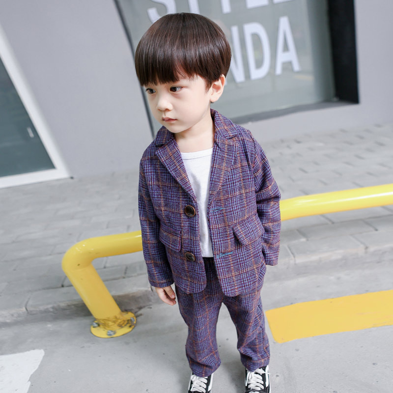 Baby Boys Plaid Suits 2PCS Korean Spring New Children Clothing Kids Csual Long-pants Outerwear Boys Jackets Children Set Topcoat seashark m mh power 2 tips casting fishing rod 99% carbon baitcasting rod lure rod fishing tackle pole pesca medium fast