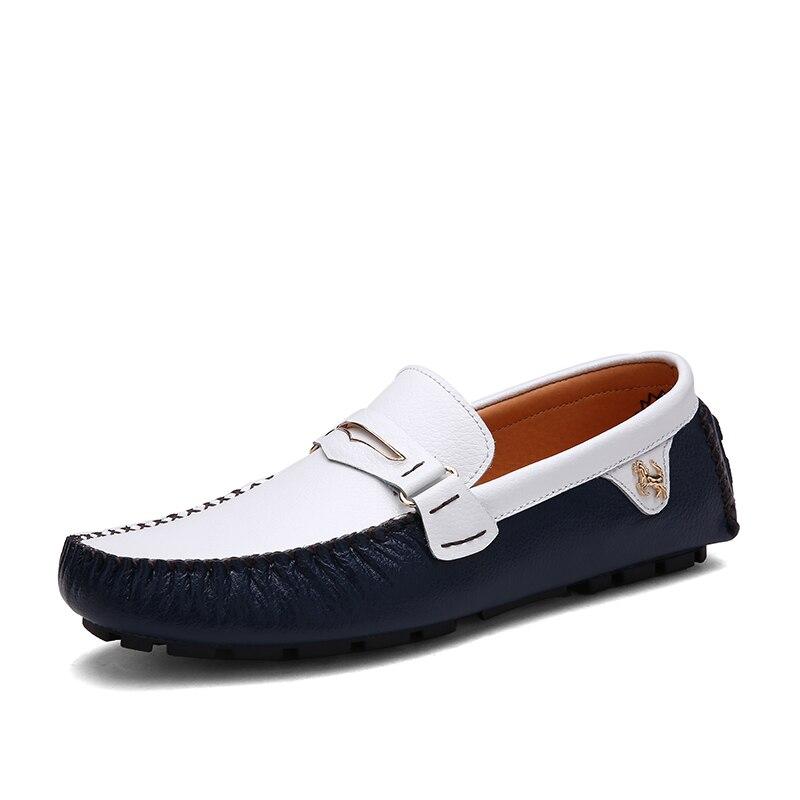 GOXPACER automne hommes chaussures mixte couleur chaussures plates pour homme en cuir véritable chaussures Patchwork mode mâle respirant cheval Logo livraison gratuite