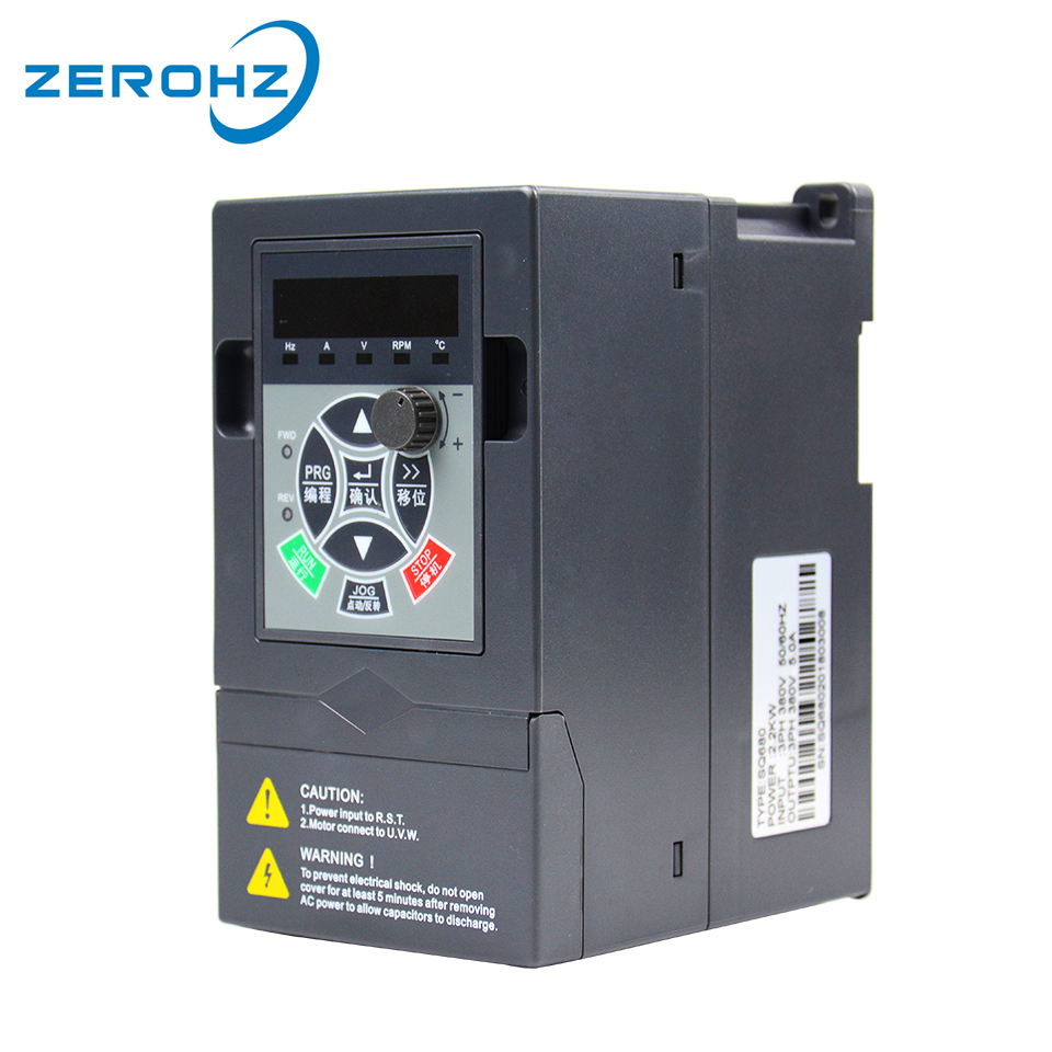 цена на 380V 0.75KW 1HP Three Phase Input Output Frequency Converter Inverter Variable Frequency Drive VFD Motor Speed Control 3Phase