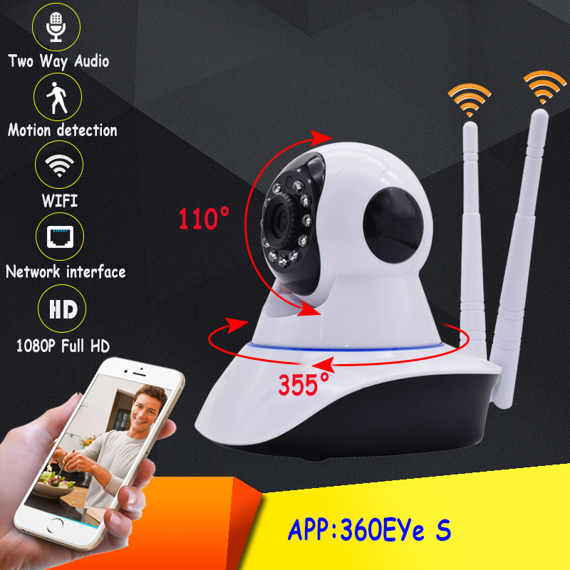 1080p Full HD 2MP CCTV home Security font b Wireless b font Wifi Camera IR Night