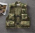 Summer Tactical Camouflage Mesh Vest Men's Pockets Camo Fish Vest Photographer Waistcoat Sleeveless Jacket