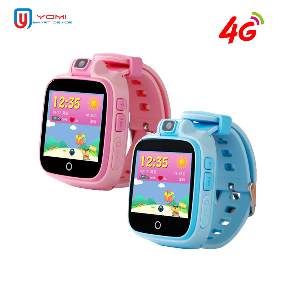 Enfants Montre Smart Watch 4g Carte SIM Smartwatch GPS Tracker Montre Bébé avec Caméra Chat Vocal WIFI À Distance Smart Monitor montre-bracelet