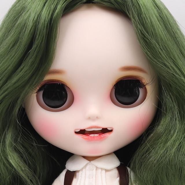 Yaradılış - Gülümsəyən üzü olan geyimli Premium Xüsusi Blythe Doll