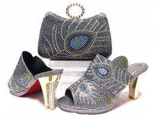 Factory Price African font b Woman b font High Heels Matching Bag Hot Sale Italian Matching