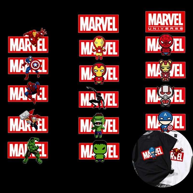Capitan America Iron Toppe e Stemmi per Abbigliamento Marvel Distintivo Stiratura Adesivi fai da te Applique Trasferimento di Calore Super Lavabile Patch Vetement