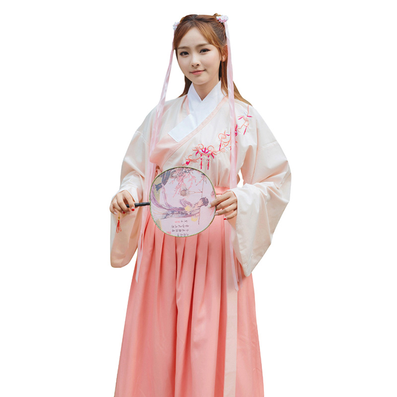 Chinese Dance Costume For Women Hanfu Folk Dress Singers Traditional Stage Wear Festival Outfit Oriental Perform Clothing DC1838