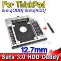AK SATA 3.0 Sata al 2do HDD Caddy 12.7mm SSD Caso recinto optibay para ibm lenovo thinkpad r400 r500 t420 t430 t520