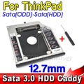 AK SATA 3.0 to Sata 2nd HDD Caddy 12.7mm SSD Case Enclosure Optibay for IBM Lenovo Thinkpad R400 R500 T420 T430 T520