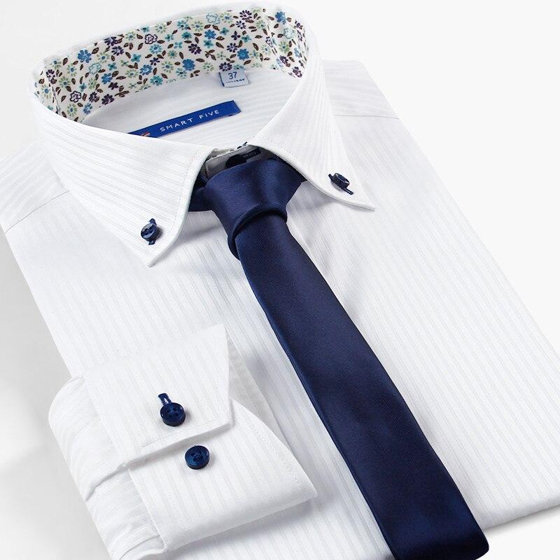 Smart Five Brand Clothing 100 Cotton Dress Shirts Formal