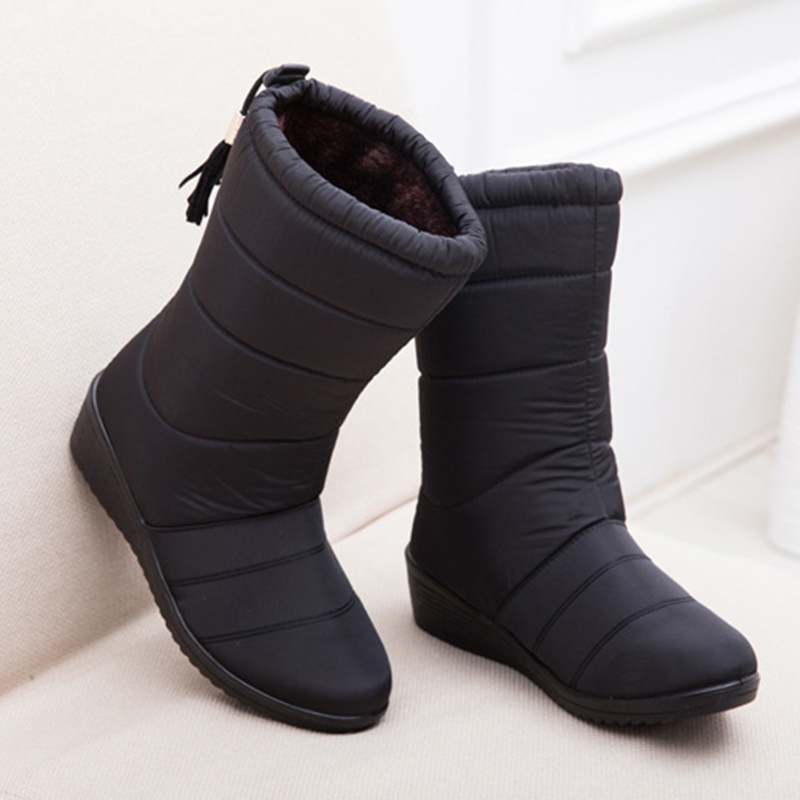 96994e4576e Women Boots Female Synthetic 2018 Winter Boots Waterproof Warm Women Ankle  Snow Boots Ladies Shoes Woman Warm Fur Botas Mujer-in Ankle Boots from Shoes  on ...