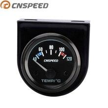 """CNSPEED """" 52 мм 12 В автоматический датчик температуры воды 40-120цельсия с датчиком автомобильный измеритель температуры воды гоночный Измеритель Белый светодиод"""