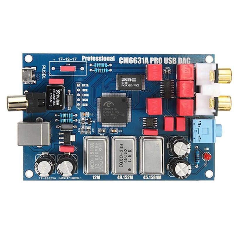 Cm6631aデジタルインターフェースusbにi2s/spdif同軸出力32/24bit 192 k + shel dacデコーダボード