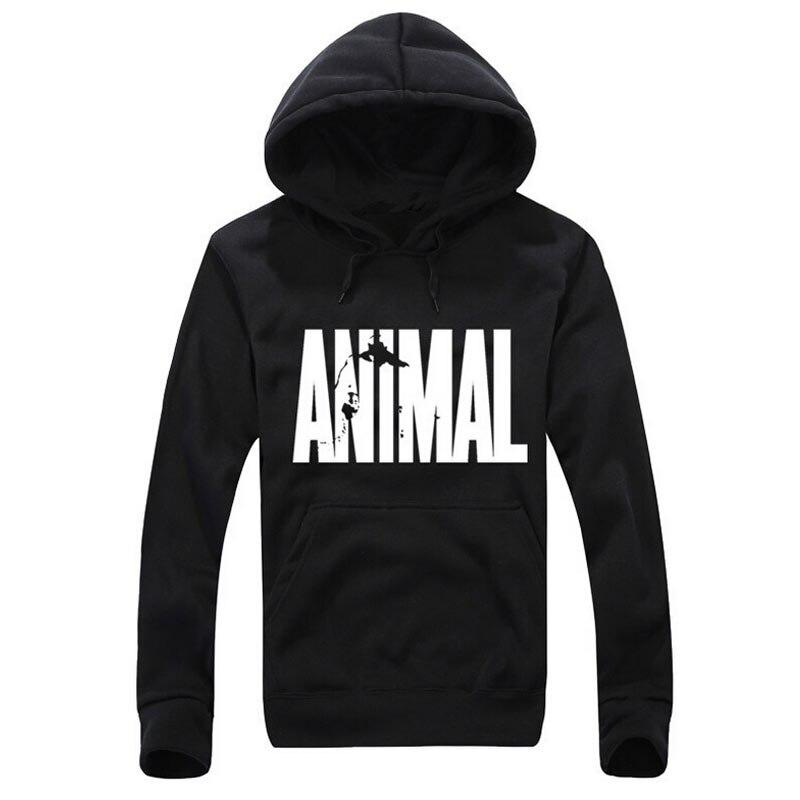 Животных печати Для мужчин капюшоном Черный жакет с капюшоном мужская одежда с рисунком Толстовки и кофты зима flash животных