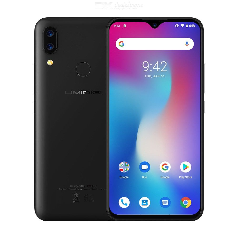 UMIDIGI Power Android 9.0 5150mAh Big Battery 18W 6.3 FHD+ Waterdrop Screen 4GB+64GB Helio P35 Global Version Smartphone 16MPUMIDIGI Power Android 9.0 5150mAh Big Battery 18W 6.3 FHD+ Waterdrop Screen 4GB+64GB Helio P35 Global Version Smartphone 16MP