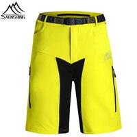 SAENSHING Downhill MTB Mountain Bike Shorts Men Bicycle Cycling Shorts With Belt Breathable Short Vtt bermuda ciclismo cycling