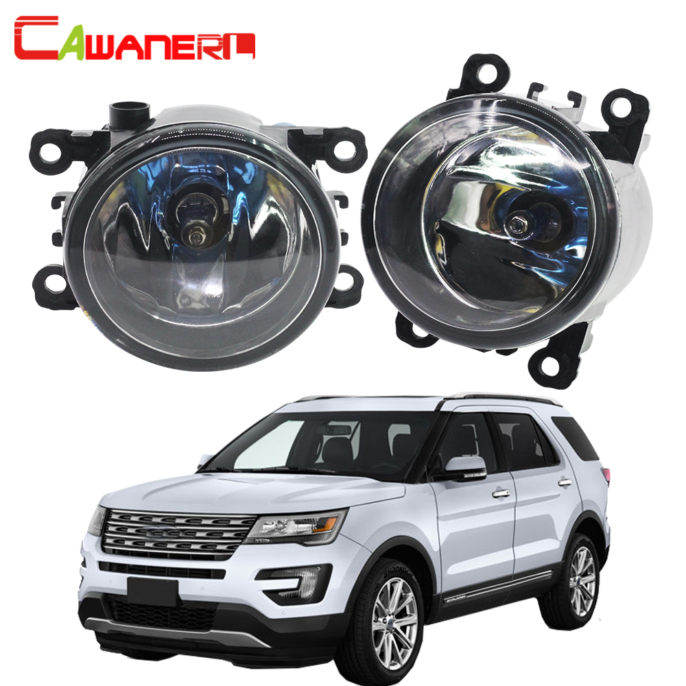 Cawanerl For Ford Explorer 2011-2014 2 Pieces H11 100W Car Halogen Fog Light DRL Daytime Running Lamp 12V High Power