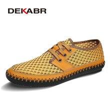 Dekabr calzado sandalias estilo simple deporte hombres zapatillas de deporte de verano transpirable zapatos para correr de malla de aire fresco superior baja altura lace up