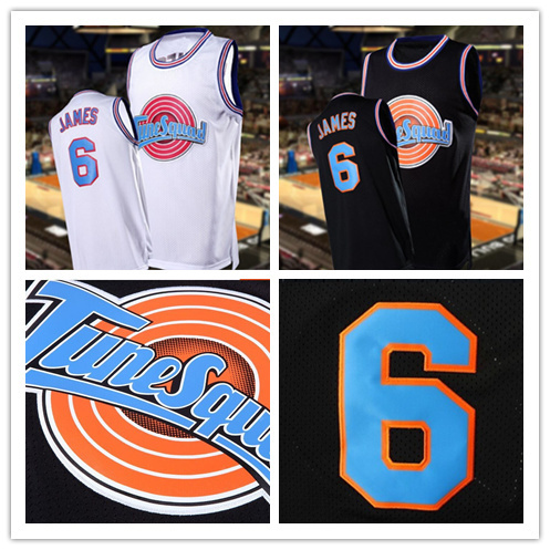 online store 34dc8 90bf3 US $29.99  Stitched Lebron James Space Jam Jersey Tune Squad,6 Lebron Toon  Squad Jersey,Looney Tunes Jersey Movie Basketball Jersey S XXL ใน Stitched  ...