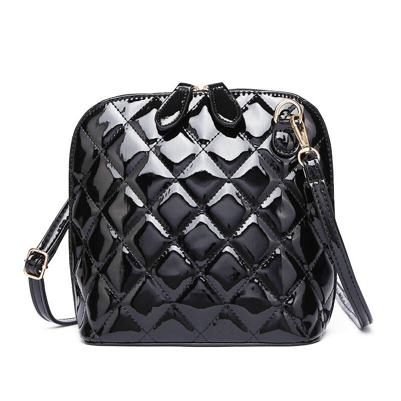 KYYSLO Fashion Shell Shoulder Bag Crossbody Casual Korean Wild Rhombic Small Women Messenger Bags PU Leather High Capacity Lady