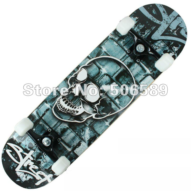 Free Shipping High Quality Skate Board Maple Wood Nice Layers 306 Professional Elementary Grade Skeleton