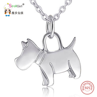 Animal Pendant Necklaces Gold Chain Dog Necklaces 925 Sterling Silver Jewelry Accessories For Women Gift