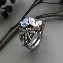 Изысканная стрекоза в форме лотоса кольцо для женщин Свадебные обручальные вечерние ювелирные изделия Аксессуары подарок