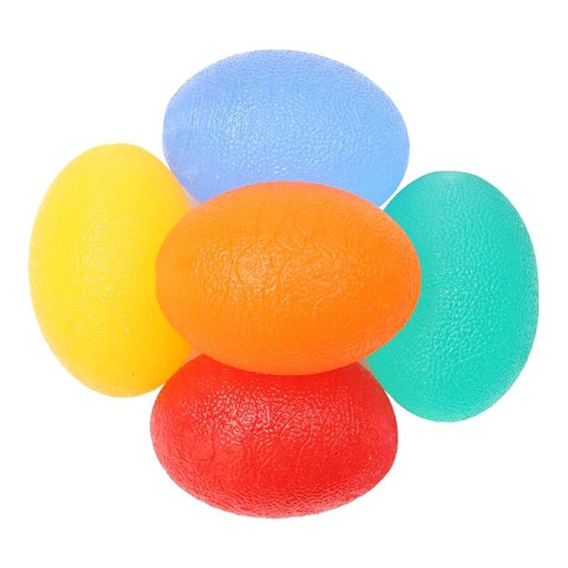 Galleria fotografica Fitness Hand Expander Gripper Dia 5.3cm Silicone Egg Hand Grip Massage Power Ball