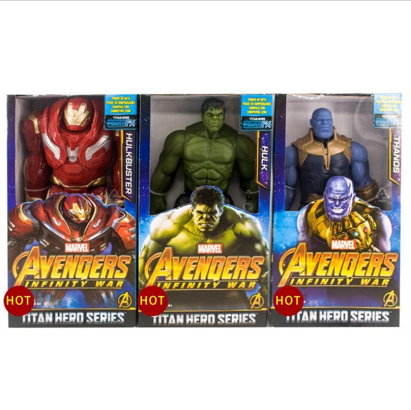 Marvel Titan Hero Avengers Infinity War Thanos Iron Spider Captain America Black Panther Hulk Hulkbuster Action Figure Toy titan hero 30 см