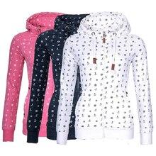 Autumn and winter casual thick loose long-sleeved hooded zipper print plus velvet Slim sweater free shipping autumn winter men s slim cotton blend velvet hooded sweater gray l