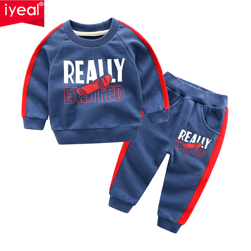 IYEAL Spring Autumn Kids Clothes Sets Children Casual Tracksuit 2 Pieces Hoodies+Pants Baby Boys Sport Suit Outwear for 3-8Years children tracksuit clothing boys outwear set clothes newborns baby pj children s pajamas for babies kids suit sleepwear 2 3 year
